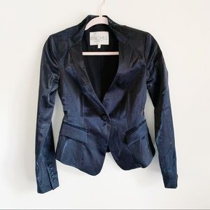 Rachel Roy Black Cropped Blazer Metallic 2